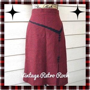 Vintage Retro Rockabilly Houndstooth Skirt
